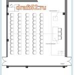 планировка зала