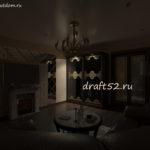 гостиная разное освещение